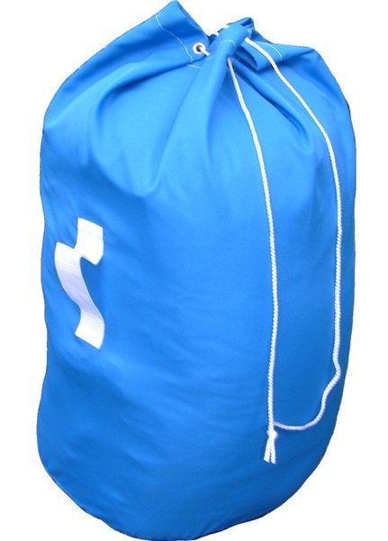 commercial laundry bag with handles blue